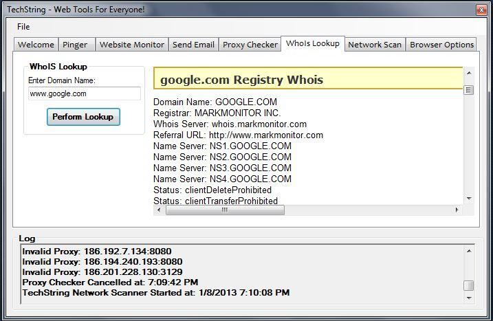 TechString Software - Screenshots